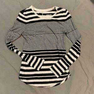 Merona Long Sleeve Top Woman's XS Striped